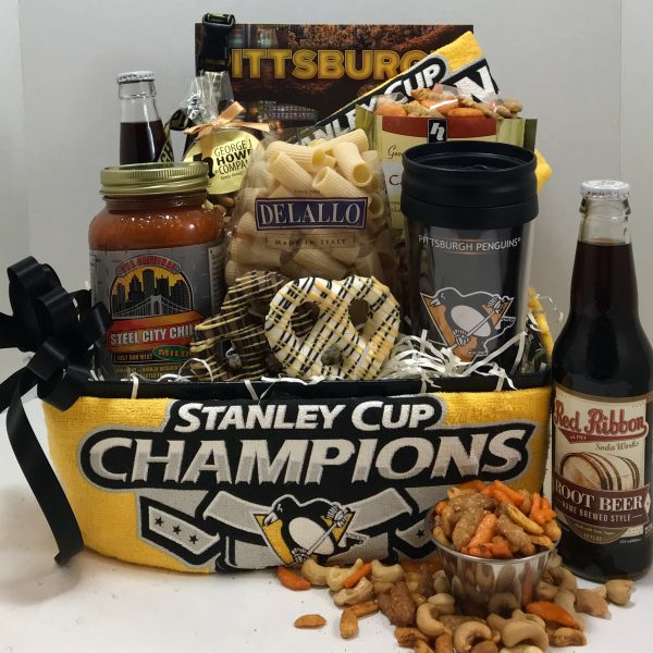 Pittsburgh Penguin Gift baskets