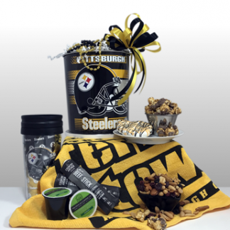 The best sports gifts in Pittsburgh. Since 1984, Basket of Pittsburgh has been creating authentic Steeler gifts incorporating all of the regions favorite brands. Send an authentic Steeler gift to your favorite Steeler fan today.