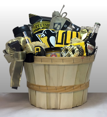 Steeler, Penguin, Pirate Gifts - Basket of Pittsburgh