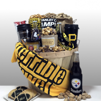 Basket of Pittsburgh has been creating classy, unique and sophisticated gifts since 1984. Local delivery or shipped nationally. Preferred gift supplier for Steeler nation.
