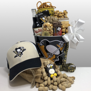 Authentic Pittsburgh Penguins gifts. Quality merchandise and the best local snacks and treats in Pittsburgh. Local delivery or Ship nationwide via FedEx.