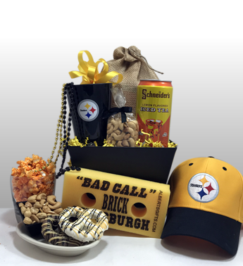 The best Pittsburgh Steeler gifts in the USA. Local delivery or shipped nationally. Authentic Pittsburgh Steeler gifts straight out of Pittsburgh. The preferred gift basket company by Steeler Nation. Basket of Pittsburgh is an award winning gift basket company and is the preferred gift basket company for Steeler Nation fans.
