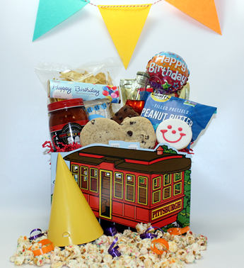 Basket of Pittsburgh has been sending gifts all over the United States since 1984. Basket of Pittsburgh is an award winning company that creates the most unique and plentiful gift baskets in the country. Creative gifts, fun gifts, classy gifts and pittsburgh gifts for all occasions are our specialty. Send this unique birthday gifts from Pittsburgh today. Shipped nationally with UPS or delivered locally.