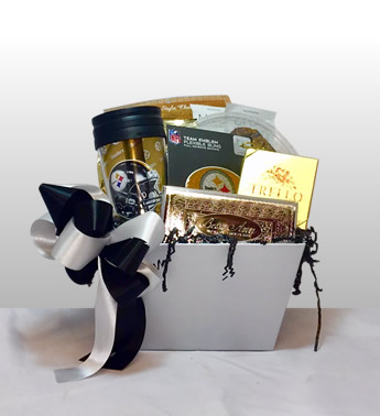 Basket of pittsburgh pittsburgh themed gift baskets burgh worthy baskets negle Image collections