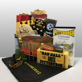 The most authentic gifts for Steeler fans around the world. Quality Steeler merchandise and favorite Pittsburgh treats all included in a classy presentation. Send a gift to your favorite Steeler fan today. Ship fed-ex or local delivery available. Since 1984, Basket of Pittsburgh has been sending Steeler gifts to fans around the world!