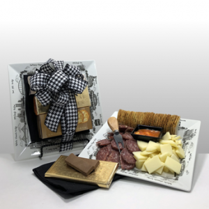 Classy and unique gifts brought to you by Basket of Pittsburgh. This sophisticated presentation is a number one seller in Pittsburgh. It has quality contents from Pittsburgh's favorite local companies all put together on a beautiful platter by THE DISH. Shipped nationally or delivered locally. Call today!