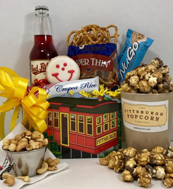 The most unique and classy gifts in Pittsburgh. Since 1984, Basket of Pittsburgh has been creating gifts that embody the spirit of Pittsburgh. The items are all of Pittsburgh's favorite brands! From Pittsburgh Popcorn to Eat n Park Smiley cookies, these gifts are sure to please.