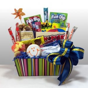 A Gift Basket Of Candy Favorites