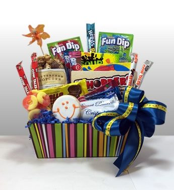A gift basket of candy favorites!