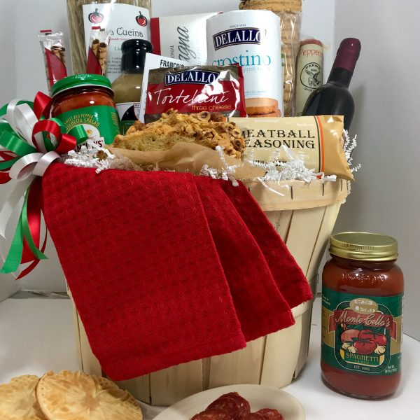 Italian themed gift baskets