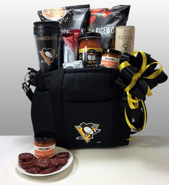 Pittsburgh Penguin Cooler gift basket