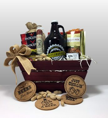 Craft Beer Growler Gift Basket.