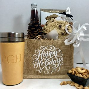 Happy Holidays gift basket by Basket of Pittsburgh