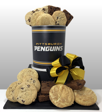 The best gifts in Pittsburgh. Classy, creative, unique and fun Pittsburgh Penguin gifts. Corporate and large orders welcome. From 1-5,000 gifts. Black and gold sports fan love Basket of Pittsburgh gifts. Send one to your favorite fan today.