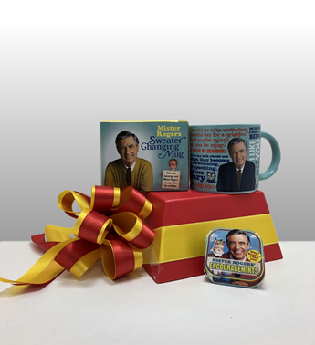 Mr. Rogers ia Pittsburgh icon. He was a one of a kind individual that brought reason and goodness to the world. We honor him this year with the unique add-on gift which is the so popular sweater changing mug! You add liquid to the mug and Mr. Rogers sweater changes to a jacket. It is the coolest mug in Pittsburgh.