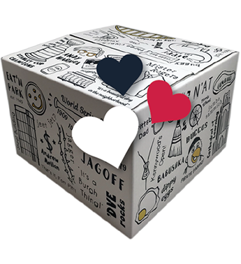 PGH-BOX is an exclusive gift design by Basket of Pittsburgh. It contains all of the best local favorites in the area. Represented by all of Pittsburgh's favorite brands from Sarris, Betsy Ann Chocolates, UTZ, Snyders, Mediterra Bakehouse, Eat n Park and many more! The best guy gifts in Pittsburgh.