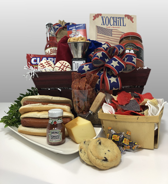 Basket of Pittsburgh has the best gift baskets in Pittsburgh for Father's Day. Give dad the very best of Pittsburgh by ordering the best gift - All American Dad. An impressive presentation of red, white and blue gifts for that All American Man. Pittsburgh is typically black n gold but this Father's day give red, white and blue gifts.