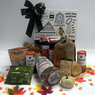 Fall and Thanksgiving gifts by Basket of Pittsburgh. Most creative gifts for personal and corporate holiday gifts. The most creative autumn gift baskets in the country.