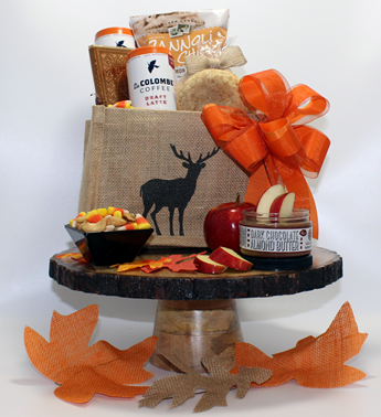 Gifts full of pumpkin spice! Fall and Thanksgiving gifts by Basket of Pittsburgh. Most creative gifts for personal and corporate holiday gifts. The most creative autumn gift baskets in the country.