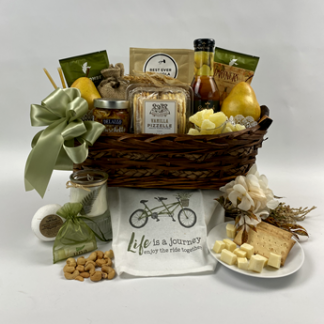 This image shows the size, quality and quantity of the beautiful gift baskets by Basket of Pittsburgh. It is titled Mother Earth and is popular for Mother's Day gifts.
