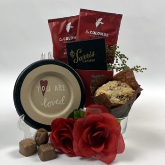 This image is to showcase the quality, quantity and contents of the Mother's Day gifts by Basket of Pittsburgh gift baskets.